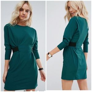 ASOS • petite mini dress w/ elastic waist detail
